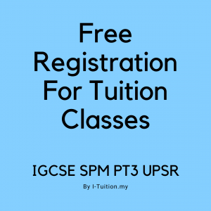 Register For Home Tuition Online Now In KL Selangor Malaysia Best Tuition Classes in Cheras Selangor Malaysia by I-Tuition